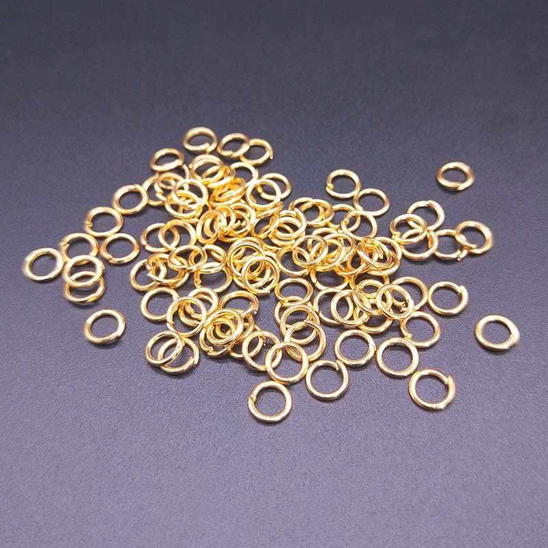 100 unids/lote anillos de salto abiertos de 5mm conectores divididos para Diy fabricación de joyas collar accesorios de pulsera 8 colores