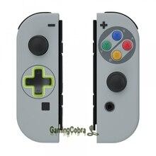 SNES אירופי קלאסי רך מגע בקר דיור (D pad גרסה) w/צבעוני כפתורי החלפת מעטפת עבור Nintendo מתג JoyCon
