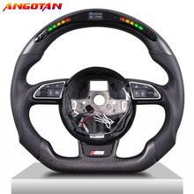 volante audi 100% Real Carbon Fiber LED Display Steering Wheel compatible for Aud-i TT R8 RS3 RS4 RS5 S3 S4 S5