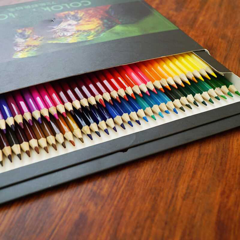 Lead-Paint Colored-Pencil-Set School-Supplies Water-Soluble Oily Brush 24/36/48/72-colors
