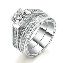 Nouveau 925 bague en argent Sterling Simulation diamant pour femme fiançailles mariage luxe bijoux cadeau
