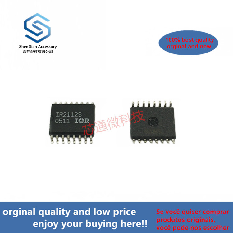 10pcs 100% Orginal New Best Qualtiy IR2112S IR2112STRPBF HIGH AND LOW SIDE DRIVER  SOP16 (can Work Perfect)