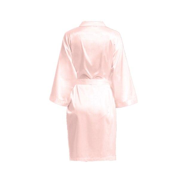 Druhna szaty, nowy szlafrok Kimono, matowy satynowy szlafrok, panna młoda szata, jedwabny szlafrok, wesele szaty wesele prezent A9000D