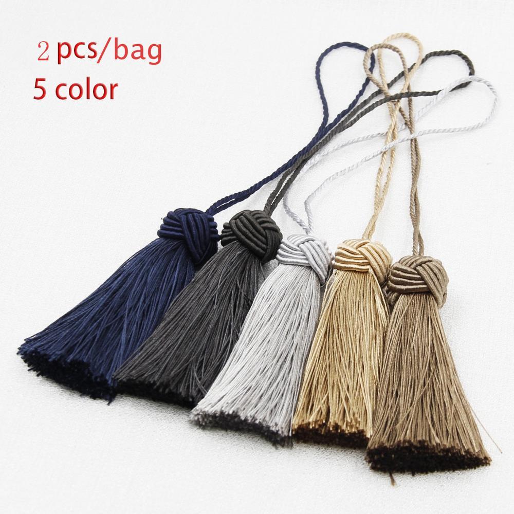 2Piece Mini Tassel Fringe Trim DIY Craft Tassels Hanging Pendant Sewing Room Accessory Jewelry Decoration Curtain Accessories