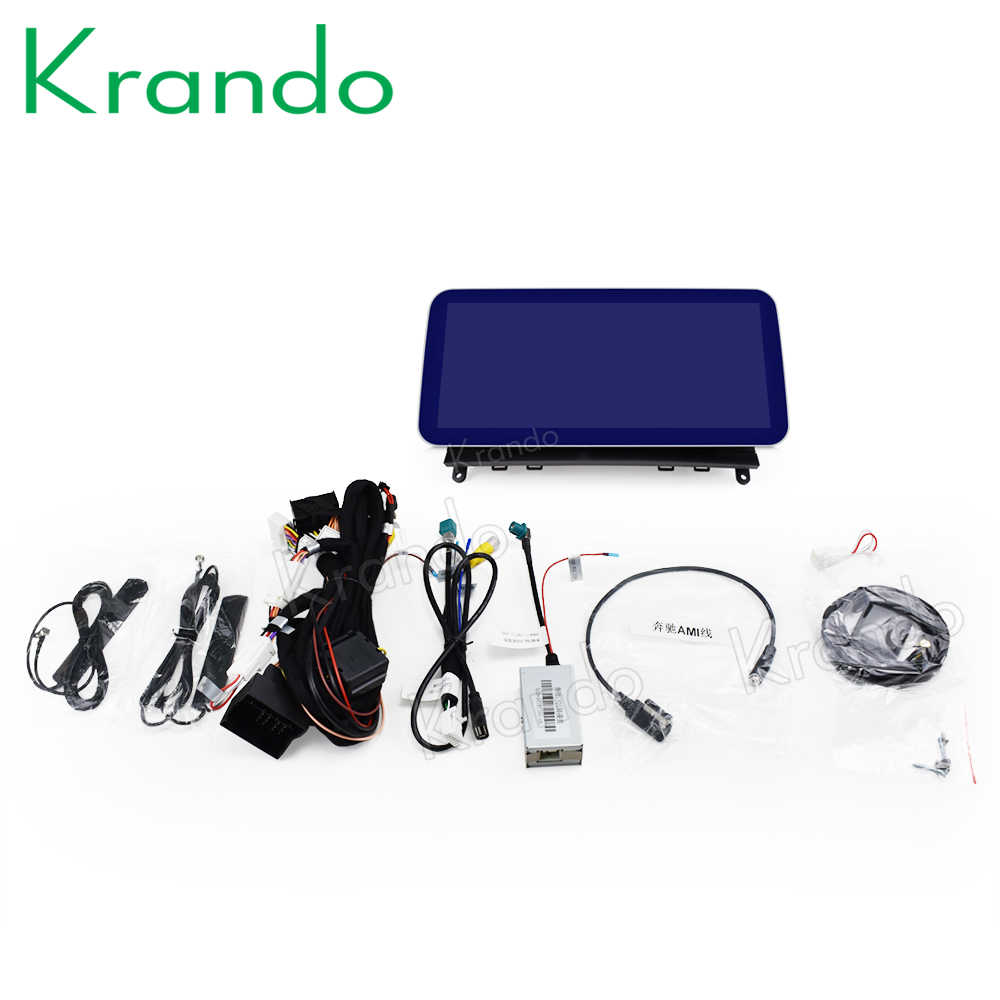 Krando Android 10.0 10.25 ''Blue Ray 4 + 64Gb Auto Radio Audio Gps Voor Mercedes Benz C W204 c180 C200 C220 2008-2014 Ntg 4.0 4.5