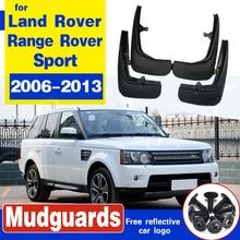 цена на 4pcs Premium Heavy Duty Molded Splash Mud Flaps Guards Fenders For Land Rover Range Rover Sport 2006-2013 2010 2009 2008 2011
