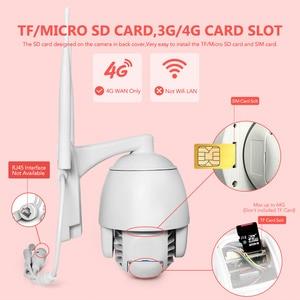 Image 2 - 2mp sim cartão 3g 4g sem fio mini câmera dome ptz 1080p 5mp ao ar livre 5x zoom/4mm lente fixa áudio em dois sentidos cctv câmera de segurança