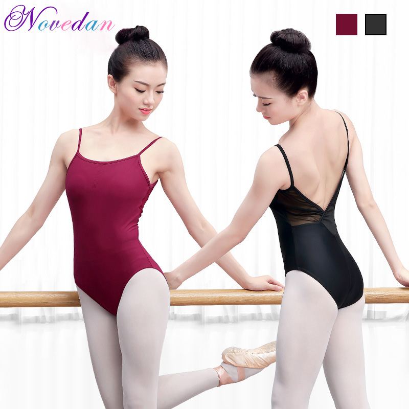 Women Ballet Leotard Costume Cotton Backless Bodysuit Dance Clothes Adult Practice  Ballet Gymnastics Dancewear
