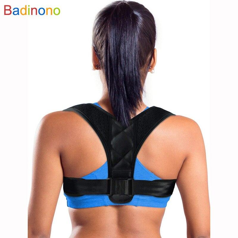 Adjustable Posture Corrector Brace Support Belt Clavicle Spine Back Shoulder Lumbar Posture Correction