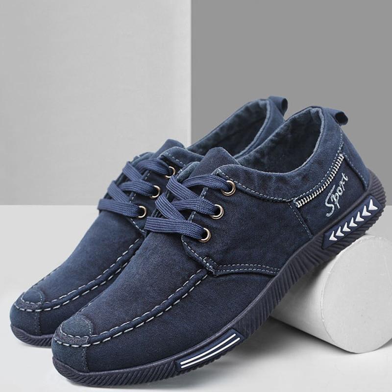 Shoes Men Sneakers Flat Casual Shoes 2020 Summer Lace-up Denim Canvas Shoes Men Sneakers Sport Shoes Zapatillas Hombre