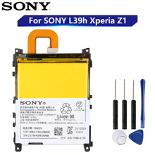 オリジナル交換ソニーのバッテリーソニーL39h xperia Z1保奈美SO 01F C6902 C6903 LIS1525ERPC本物の携帯電話のバッテリー3000mah