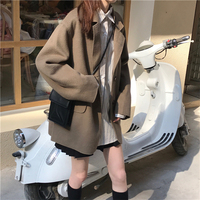 Autumn Winter Women Long Blazers Thicken Office ladies Jackets Loose Oversize Casual Thin Blazers runway Female Suits Coat S0097