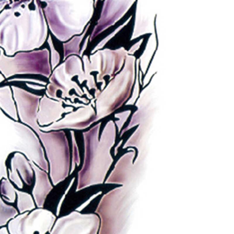 1 ورقة الوشم ملصق المرأة للماء المؤقتة وهمية الوشم ملصق زهر البرقوق DIY الوشم صائق