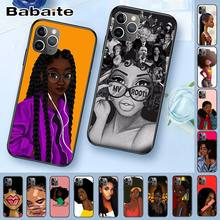 Queen Afro Gadis Hitam Melanin Poppin Coque Shell Aksesoris Case untuk Iphone 8 7 11 6 6S Plus X XS MAX 5S 11pro XR Cover(China)