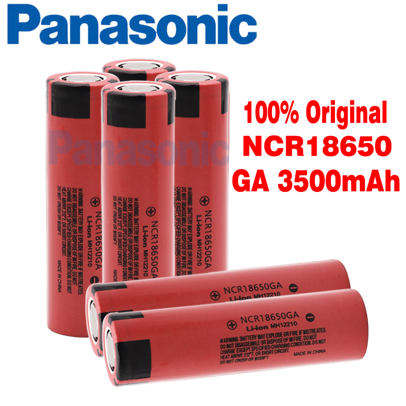 Original Panasonic NCR 18650GA 30A discharge 3.7V 3500mAh 18650 rechargeable battery for toy flashlight flat-top lithium battery