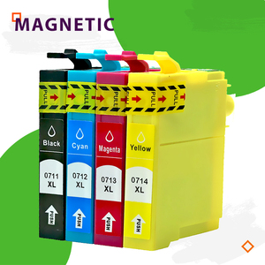 T0711 711 12pcs Compatible T0711 T0712 T0713 T0714 Ink cartridges for Epson stylus DX8400 DX8450 DX9400 DX9400F inkjet withchip(China)