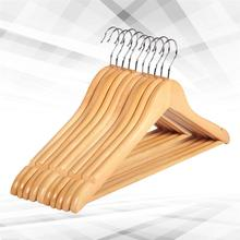 10pcs Solid Wood Hanger Non-Slip Hangers Clothes for Hangers Shirts Sweaters Dress Hanger Drying Rack for Home
