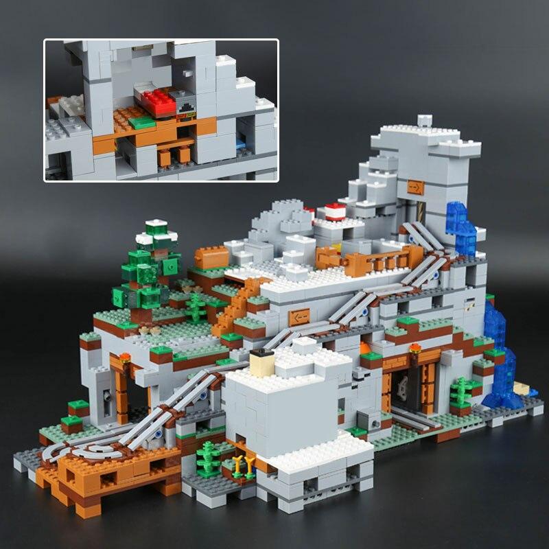 2304PCS Mein Welten Die Mountainglys Cave SPIELZEUG Kompatibel Legoinglys Stadt 21137 Stapeln Block Modell Gebäude Kit Blöcke Ziegel - 4
