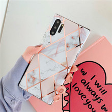 Geometric Marble Phone Case Cover For Samsung Galaxy S10 S9 S8 Note 10 Plus 8 9 S7 edge A10 A20 A30 A50 A70