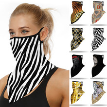 Print Seamless Ear Masks Scarf Mascarilla Outdoor Ski Windproof Seamless Face Cover Sports Scarf Neck Hiking Scarves Tube Mask
