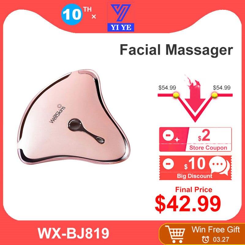 Xiaomi Mijia Youpin Wellskins Mikrostrom Intelligente Hebe Schaben Massager Straffende Gesichts Schönheit Hautpflege Instrument-in Smarte Fernbedienung aus Verbraucherelektronik bei Mi Global life Store