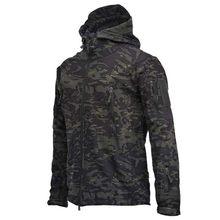 2021 Military Shark Leather Soft Shell Jacket Windproof Waterproof Jacket Men's Military Combat Jacket Men's Hooded Body Armor