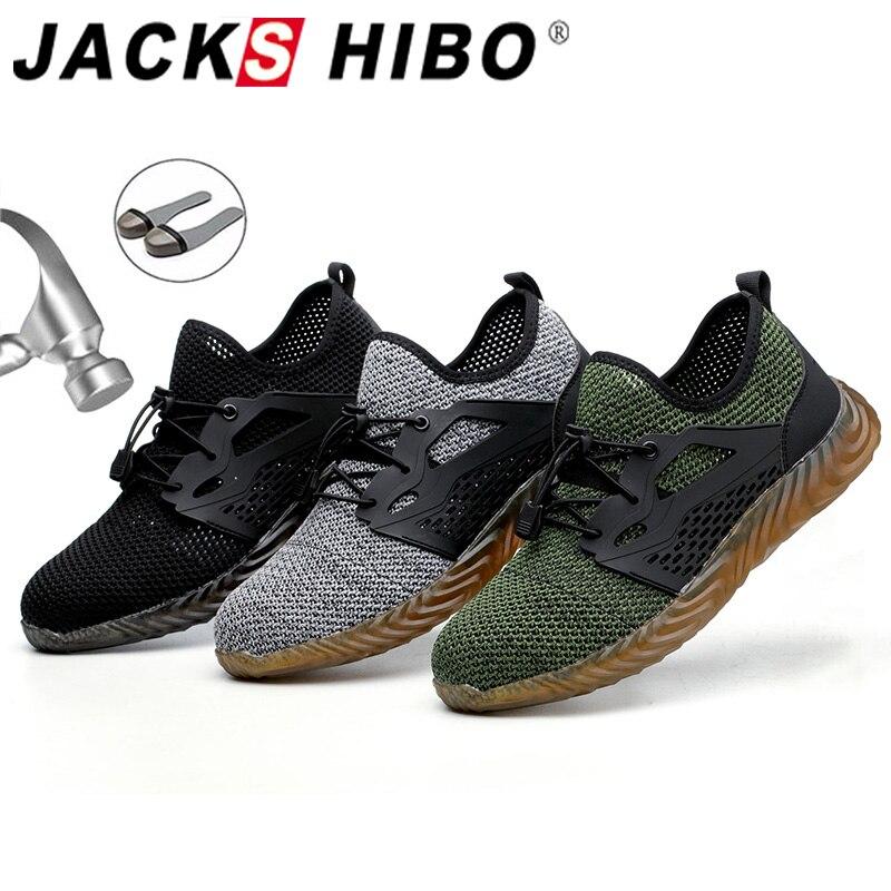 JACKSHIBO Work Safety Shoes For Men