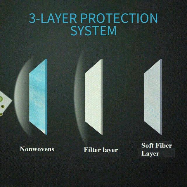 100Pcs 3 Layer Mask Personal against droplets Mask maska antywirusowa mask for flu 5
