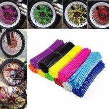 36Pcs Bike Motorcycle Dirt Decoration Motocross Wheel Spoke Wraps Rims Skins Protector Covers Decor