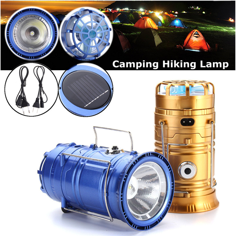 Camp Lamp LED Camping Light solar Rechargeable Flashlight with fans Spotlight Work Light 110-220V Searchlight Emergency Torch