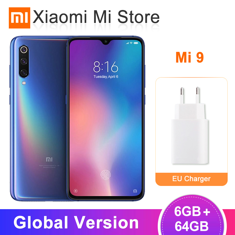 Global Version Xiaomi Mi 9 Mi9 Smartphone 6GB 64GB Snapdragon 855 Octa Core 6.39 48MP Support Wireless Charging  NFC QC 4.0