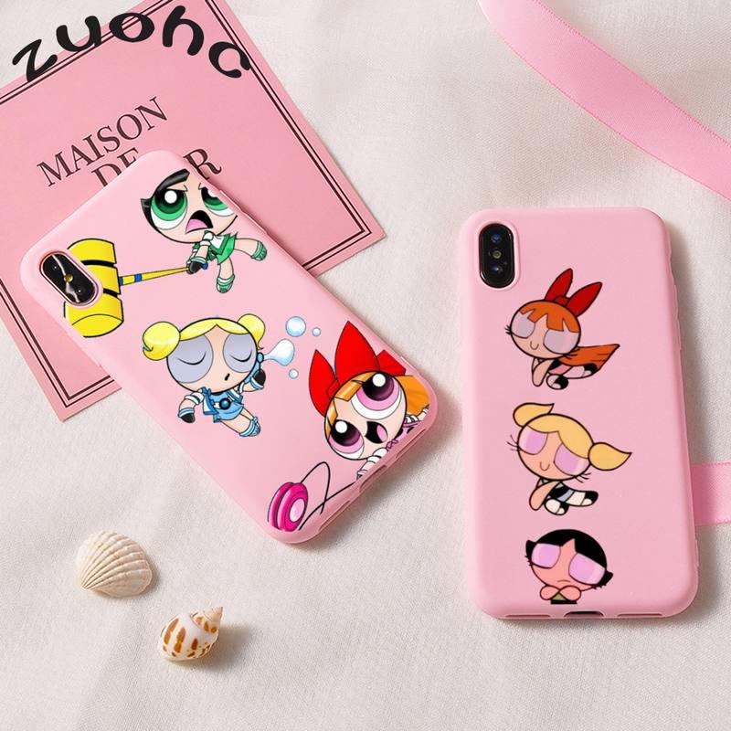 The Super Power Girls Phone Case Soft Case for iPhone 12 11 Pro Max XS XR 8 7 6s Plus 11Pro 7Plus 8Plus