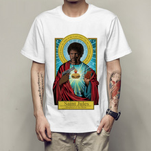 Nueva moda Pulp Fiction Camiseta de manga corta de verano Camiseta de manga corta con estampado de Saint Julio camisetas