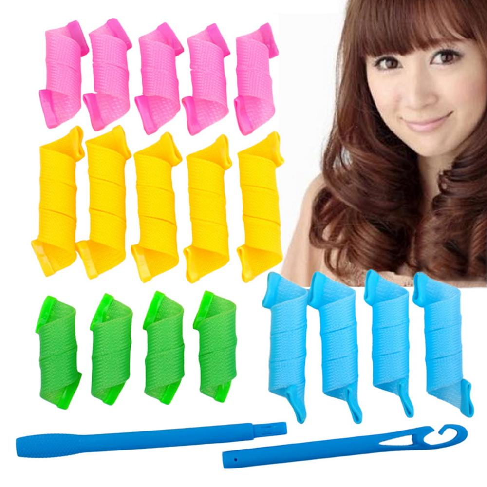 18 Pcs DIY Recyclable No Chemical Damage Magic Circle Hair Styling Roller Curler Hair Salon Tool For Spiral Curls Curling Hair