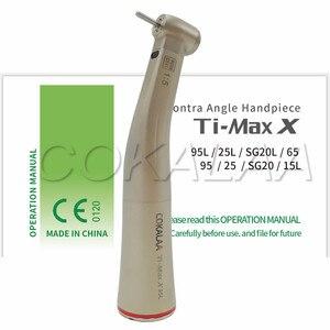 Image 1 - COKALAA dentale TI MAX X95L dentale 1: 1 manipolo contranangolo crescente manipolo Push anello rosso