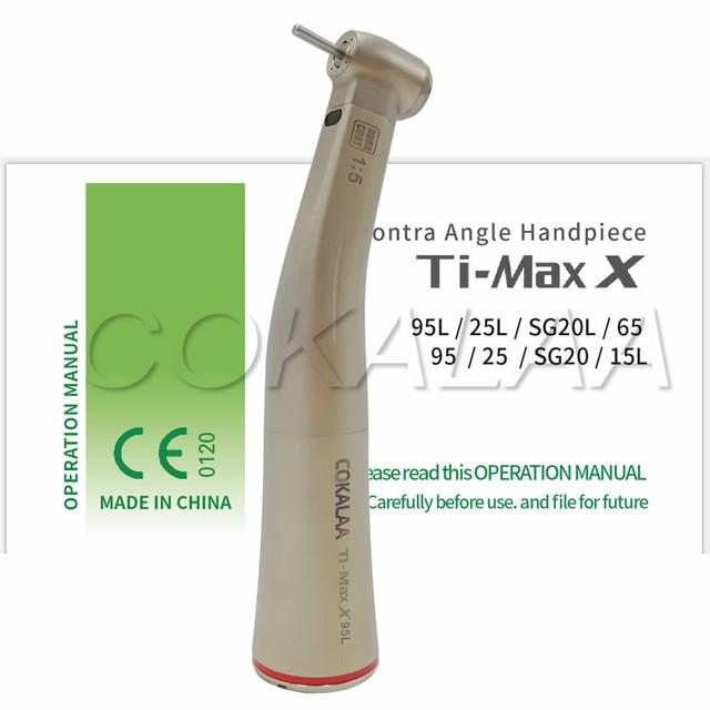 COKALAA dentale TI MAX X95L dentale 1: 1 manipolo contranangolo crescente manipolo Push anello rosso