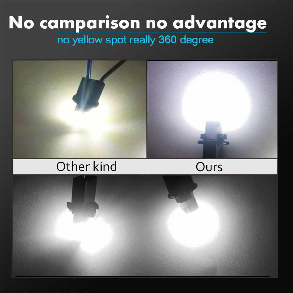 2X3030 SMD T10 W5W LED samochodowe światła obrysowe lampka do czytania Auto pojazdu dome drzwi żarówki akcesoria 12 czysty 6000K biały/bursztynowy/czerwony