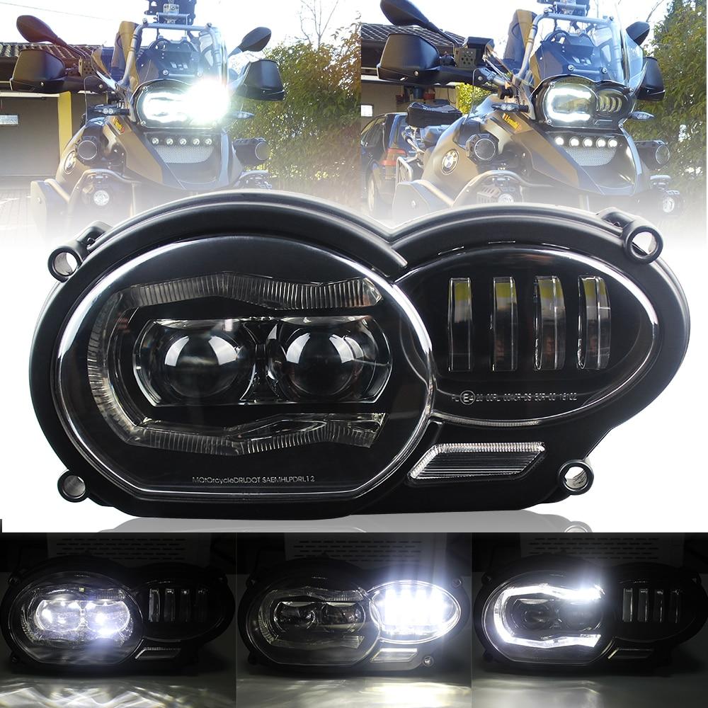 For BMW R1200GS R 1200 GS ADV R1200GS LC 2004-2012 Fit Oil Cooler Motor Bike 2018 LED Headlight