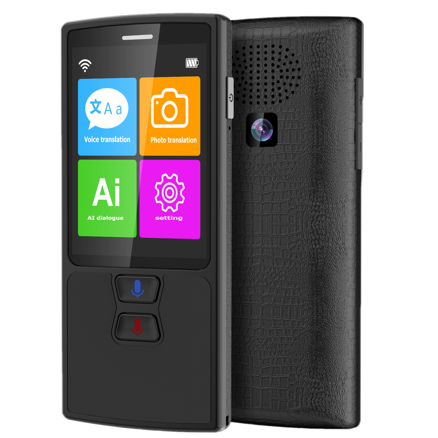 Voice translator Photo translation 82 Languages AI Smart Dialogue Learn foreign languages quickly Travel translator BLACK image