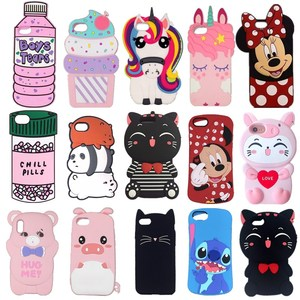 For iPhone 4 4s 5 5s SE 6 6s 7 8 Plus X XR XS Max cute 3D Cartoon cat Stitch Minnie fashionable soft silicon Phone case cover(China)