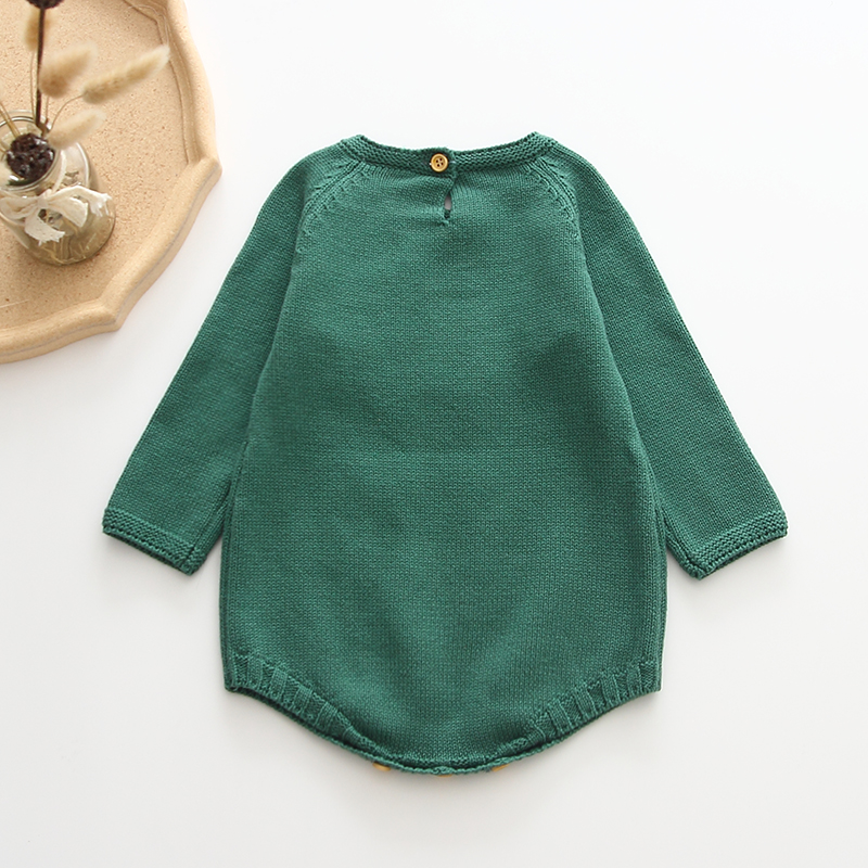 Newborn Baby Girls Boys Knitted Romper Baby Clothes Cotton Pompom Woolen Baby Rompers Ruffle Infant Baby
