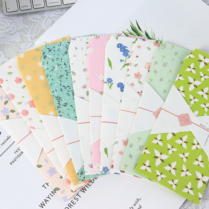 20 Pcs/lot Plant Flower Design Paper Envelope Color Floral Gift Card Passionate Children Students Holiday Prize Letter Paper