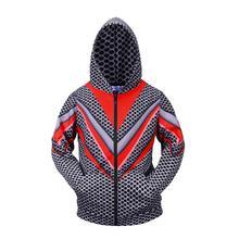 Dots 3D Mens Long Sleeve Sweatshirt 2019 New Fall Zipper Up US Hoodie Jacket Casual Gym Hooded Coats Top Fitness Sports Outwear