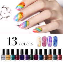 NICOLE DIARY 6ml Watercolor Marble Nail Ink Sparkling Polish Red Purple  Art DIY Design Varnish Decoration