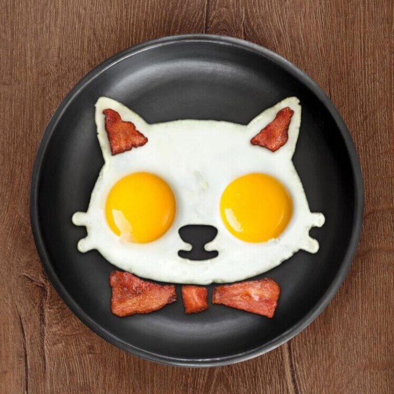 Silicone Mold Egg Decorations Cat Dog Shaped Fried Eggs Omelette Molds Cooking Kitchen Accessories Gadget Tools image