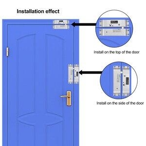 Image 5 - DC12V Fail Safe Nc Elektrische Drop Bolt Lock Toegangscontrole Elektronische Mortise Deursloten Met Vertraging Voor Gate Entry systeem