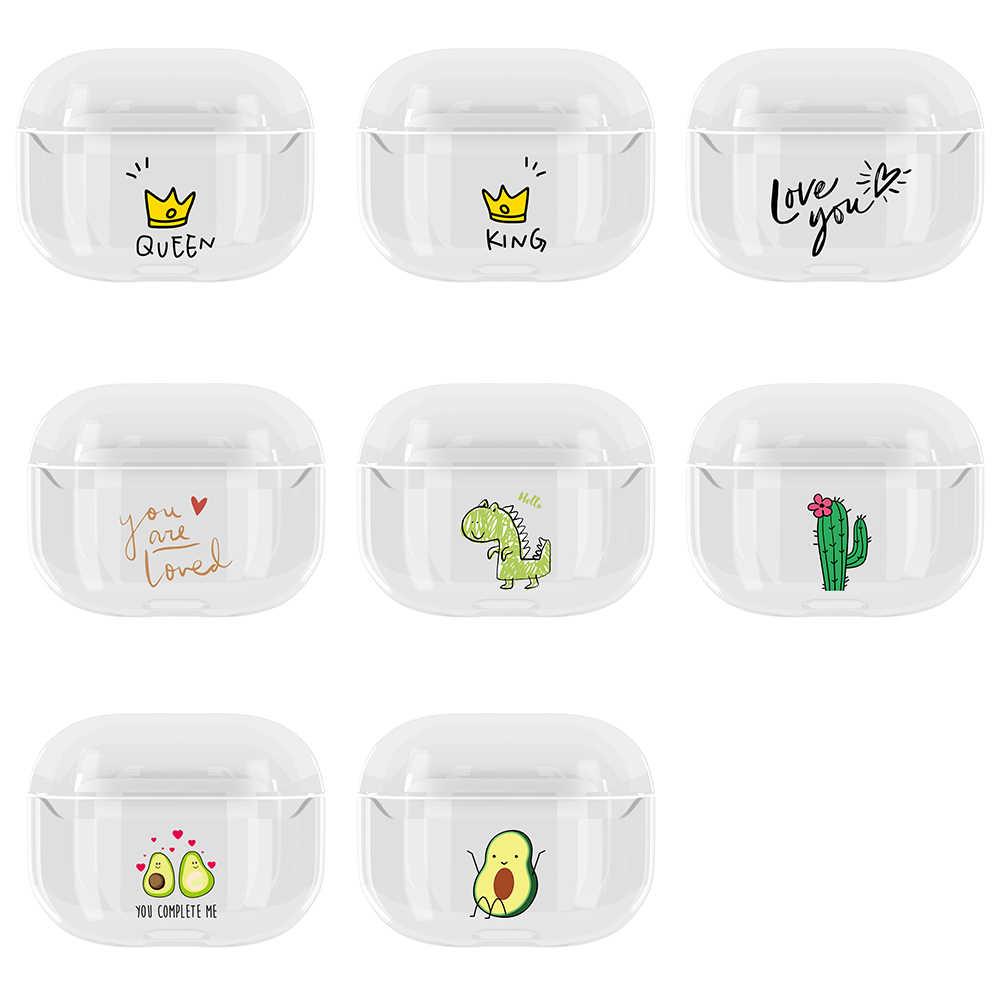 Case untuk Apple AirPods Pro Cute Case untuk Airpods Pro Kartun Nirkabel Earphone Kotak untuk Airpods 3 Transparan Hard Pc tas
