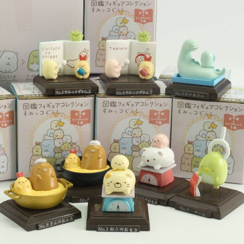 8 Pc Cute cartoon sumikko gurashi Doll Decoration Hand-made Model Cartoon Blind Box Gift-3