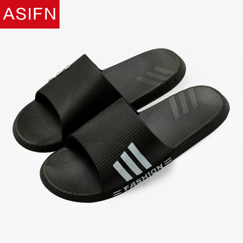 ASIFN Summer Home Slippers Men Slides Flip Flop Fashion PVC Male Non-slip Shower Bathroom Couple Soft Sole Men Flip Flops