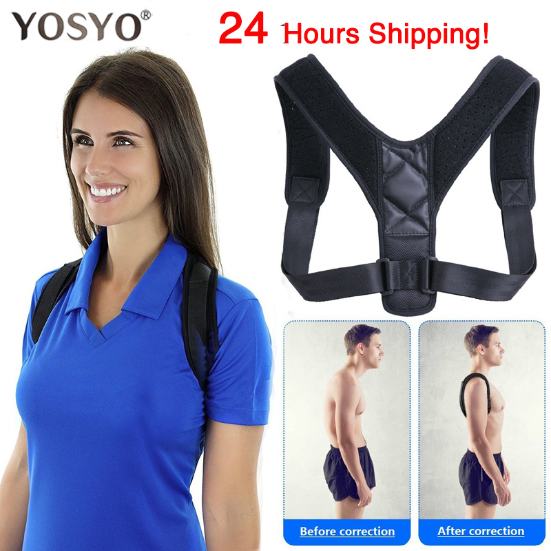 YOSYO Brace Support Belt Adjustable Back Posture Corrector Clavicle Spine Back Shoulder Lumbar Posture Correction